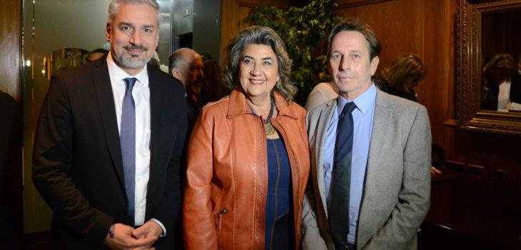 Ernesto Ottone, Virginia Reginato y Alfredo Castro    FICVIÑA