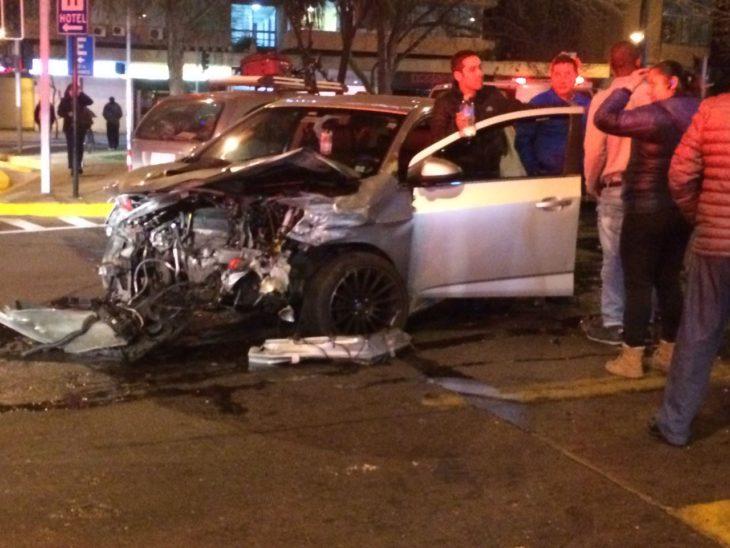 Vehículo colisionado por Lastra | Jaime Sepúlveda | RBB