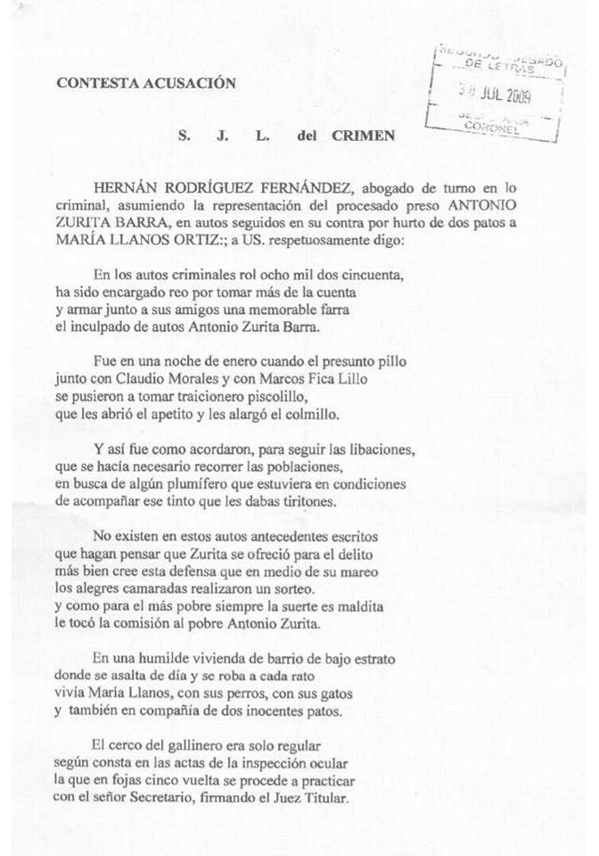 Respuesta a Auto de Acusación | Abogado Hernán Rodríguez Fernández