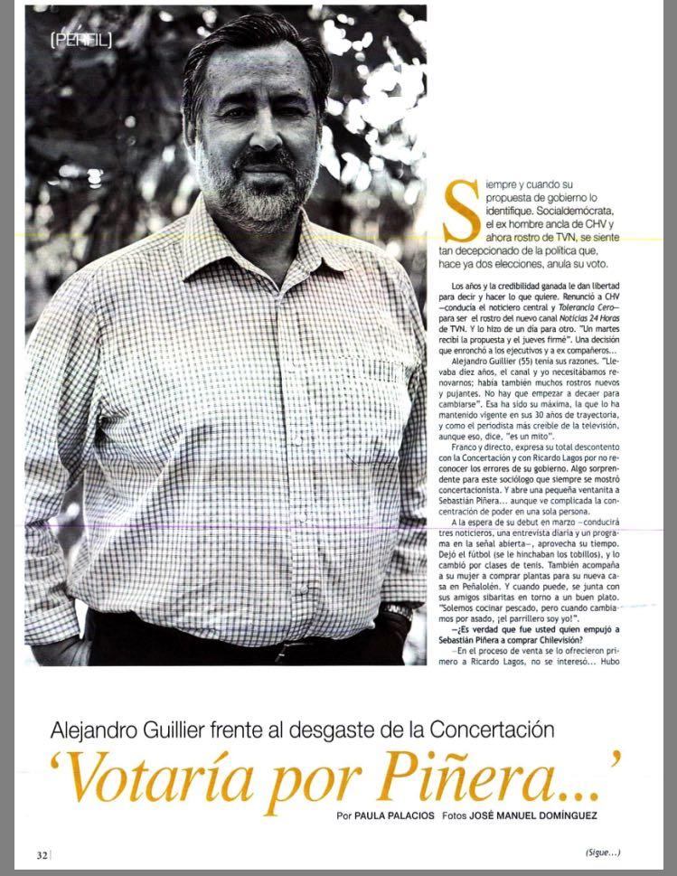 Reflotan entrevista donde Guillier entregaba condicionado apoyo a Piñera