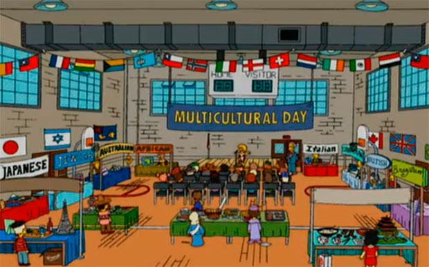 Bandera de Chile en Los Simpson, temporada 18