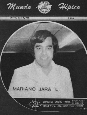 Mariano Jara en la portada de la revista de carreras de caballos, Mundo Hípico.