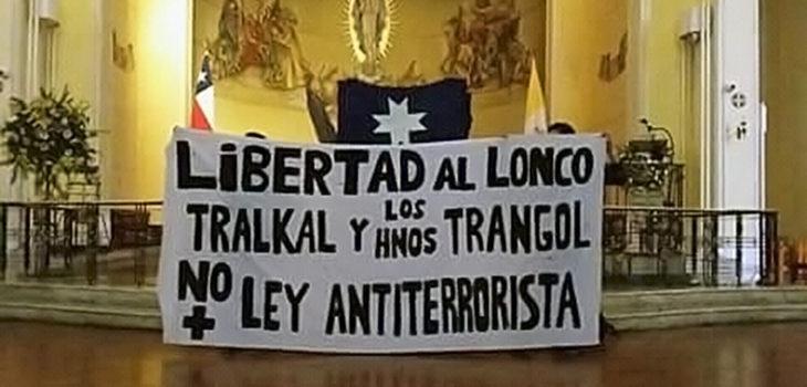 Resultado de imagen para Catedral de Concepción, cinco días tomada Manifestantes mapuches