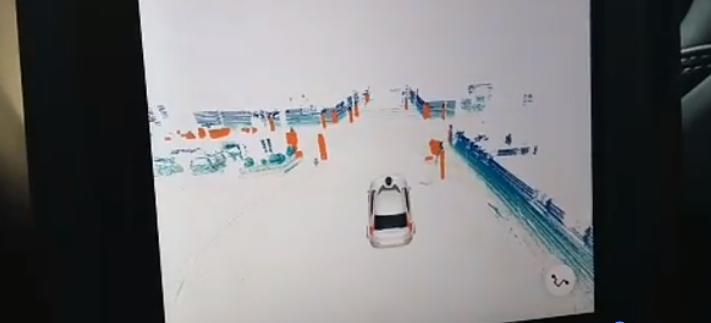 Pantalla que muestra condiciones del camino | BBCL