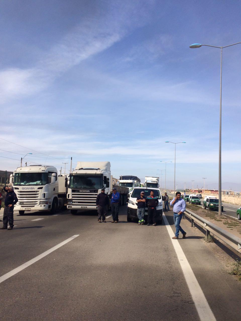 toma de carretera en Vallenar