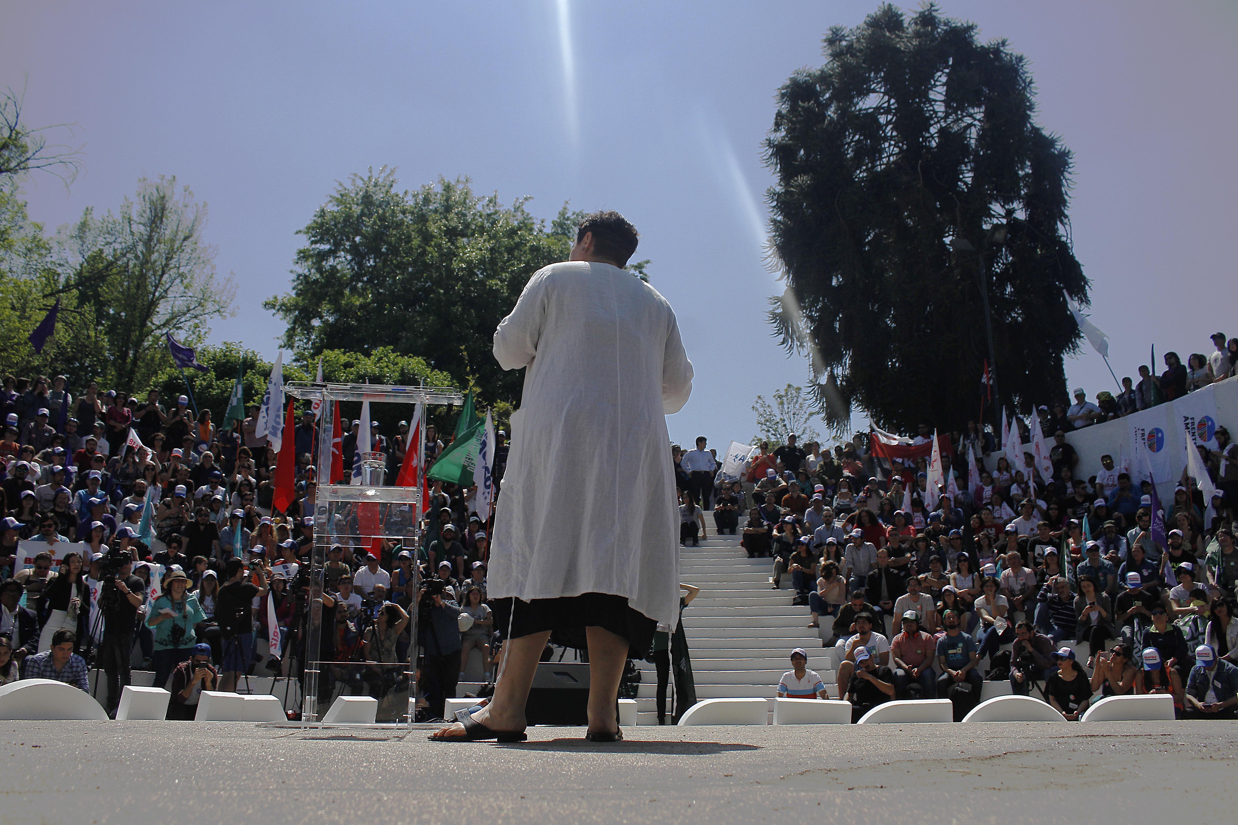 Beatriz Sánchez lanzó su programa de gobierno en el Parque Juan XXIII