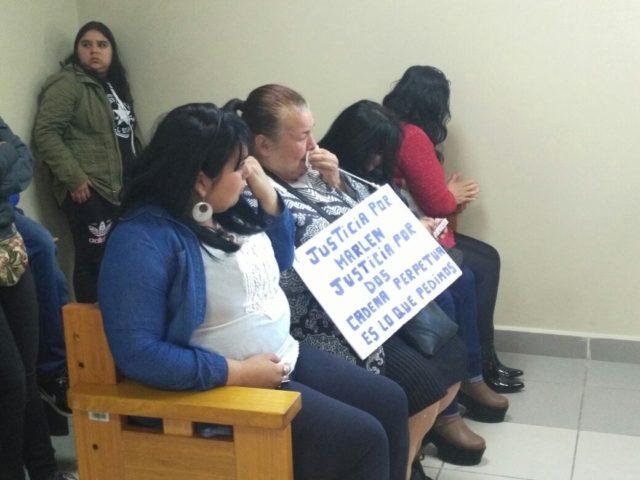 Familiares de Marlen Matamala durante el juicio | Fabián Polanco