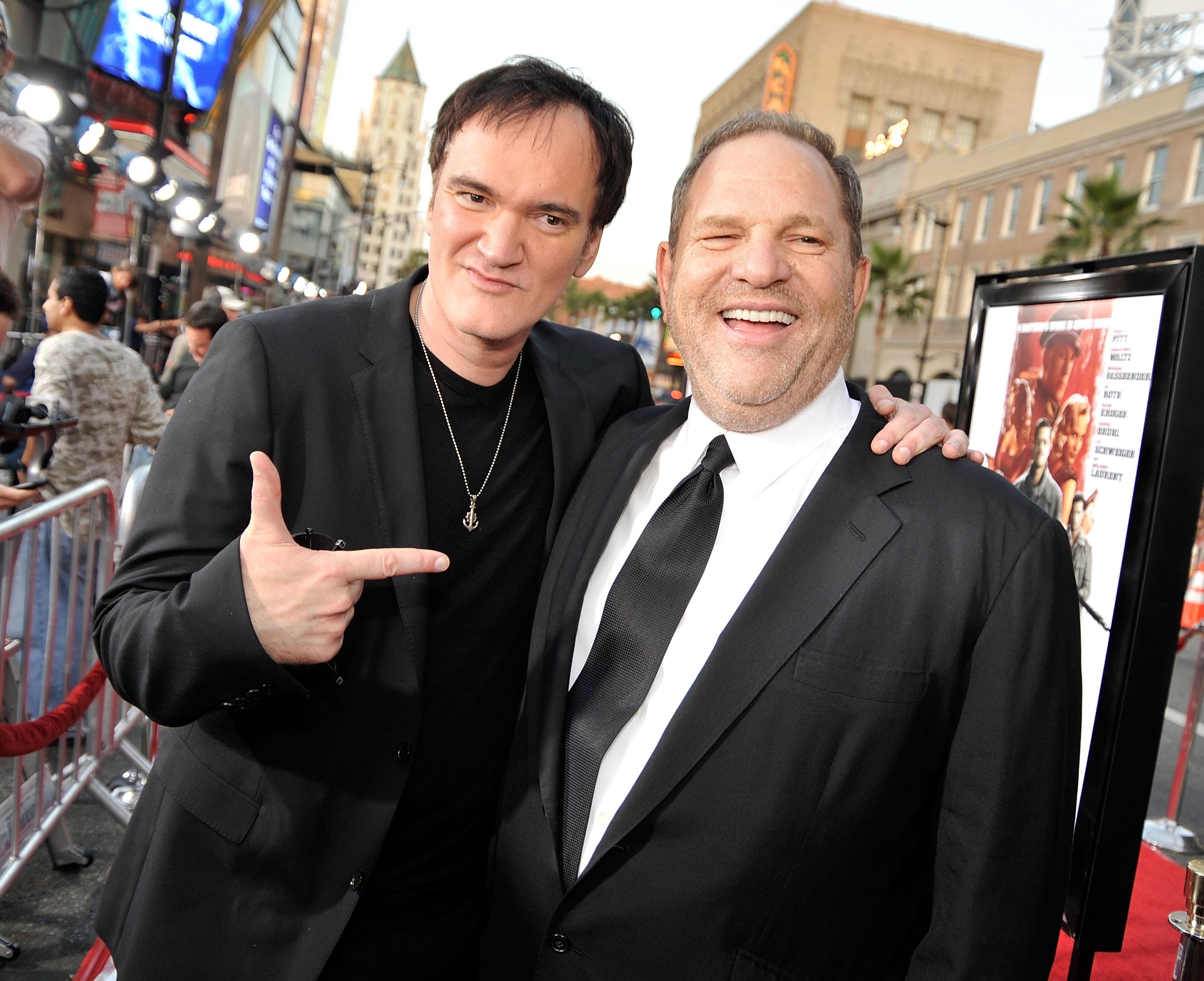 Quentin Tarantino junto a Harvey Weinstein | Agence France-Presse