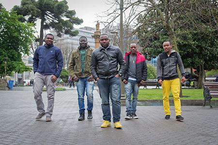 Ismael, Emmanuel, Stanley, Ronald y Claude | Imagen de Revista Nos