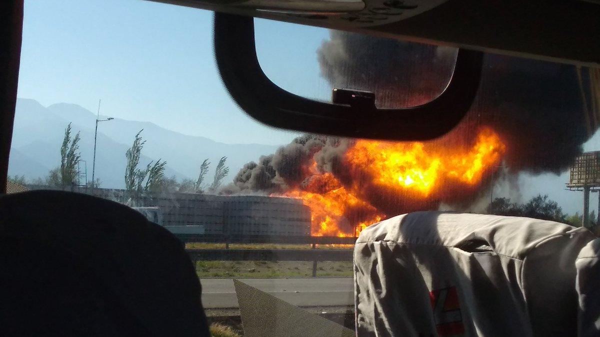 Incendio en planta Rucaray @Michogonzalezn | Twitter