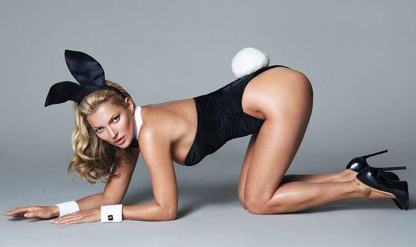 Kate Moss posando como conejita | Playboy