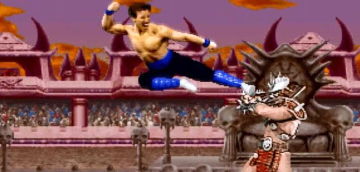 Johnny Cage y Shao Kahn  Mortal Kombat II