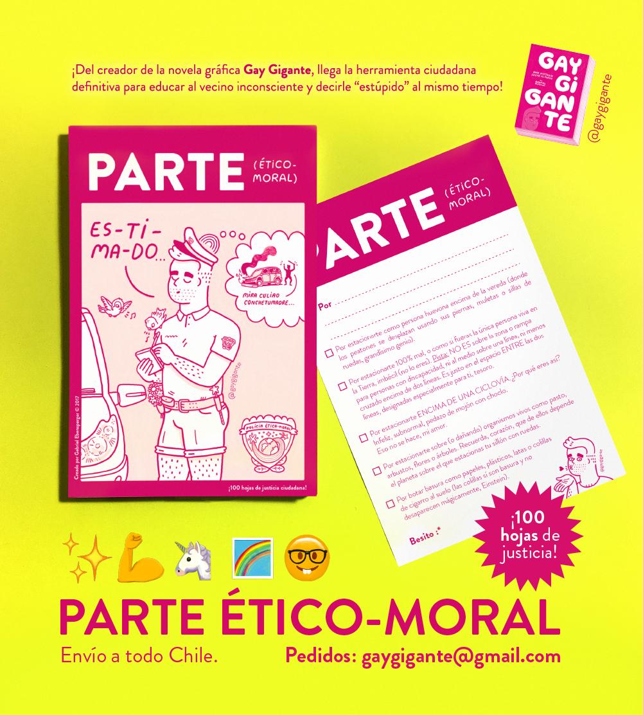 """Afiche rpmocional de """"Parte Moral"""""""