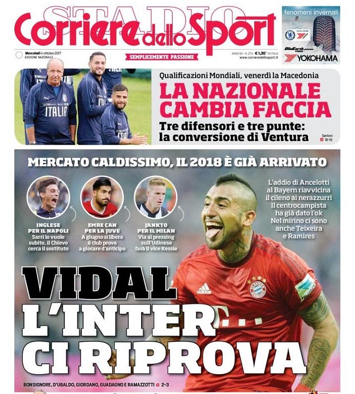 Portada Corriere dello Sport