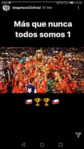 Pantallazo Instagram Arturo Vidal.