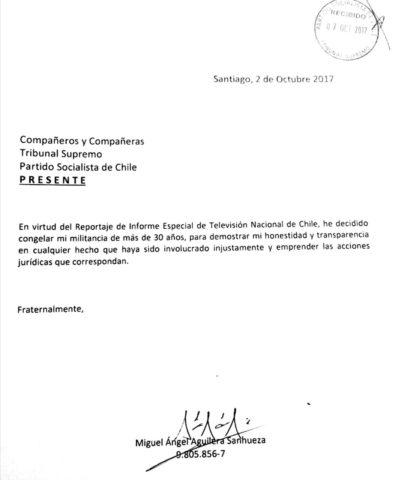 Vicepresidente del PS anuncia que congela su militancia |RBB