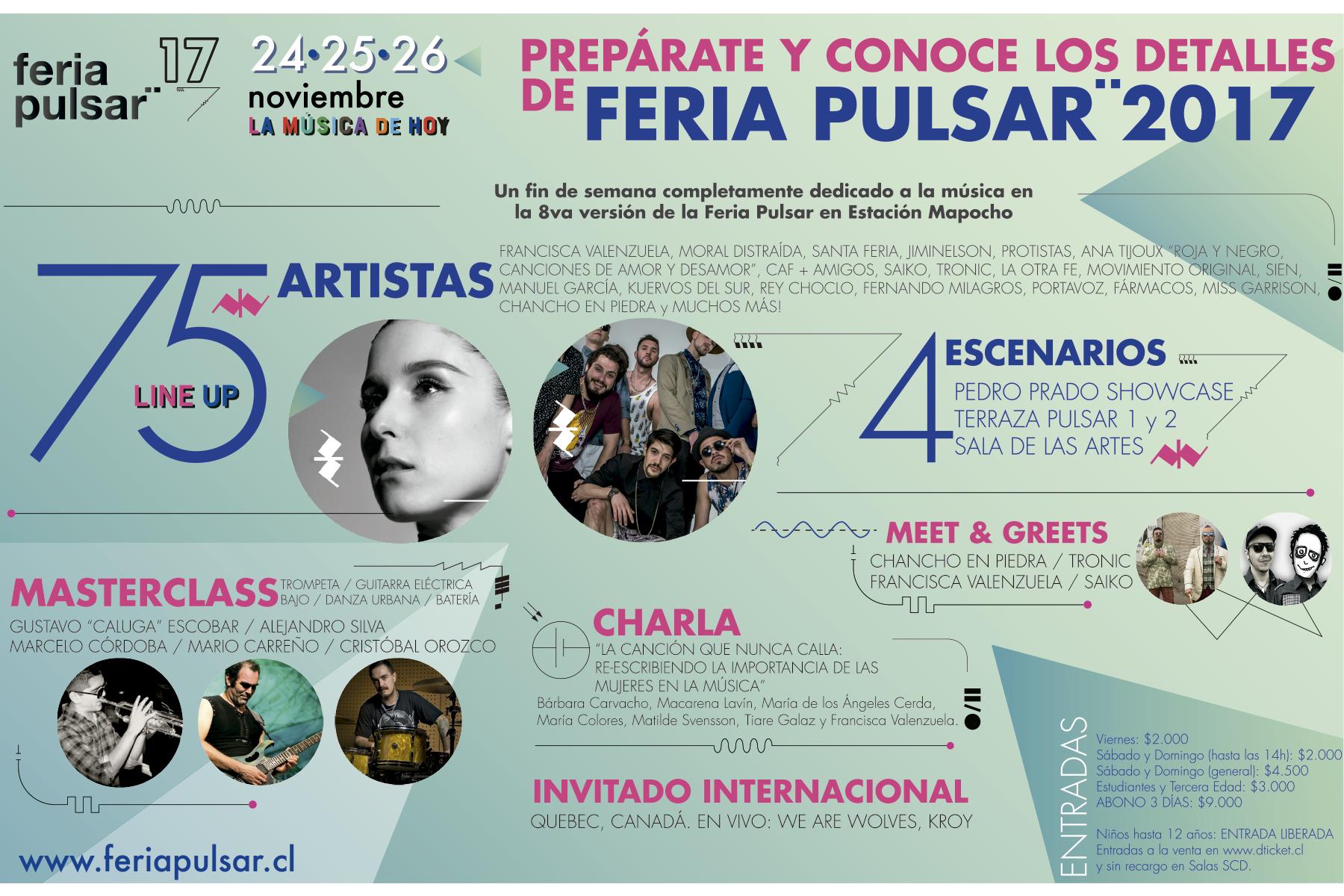 Infografía de la Feria Pulsar