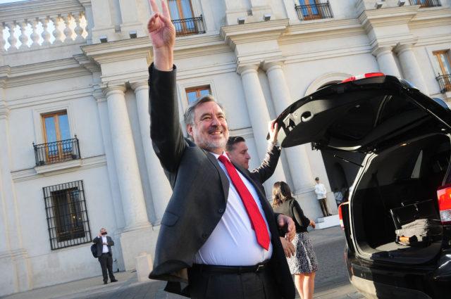 Guillier llega a La Moneda. Sebastián Beltrán Gaete | Agencia UNO