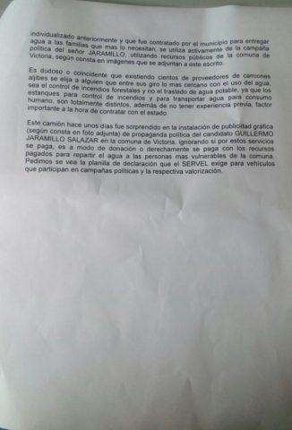 Carta ingresada a Contraloría