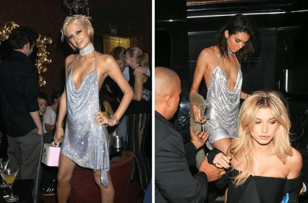 Paris Hilton y Kendall Jenner con el mismo vestido