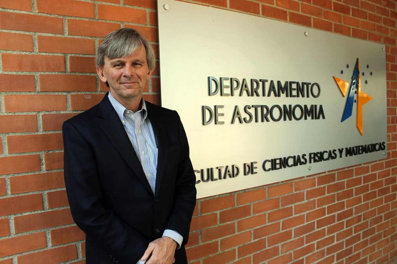 David Reitze en el Departamento de Astronomía de la Universidad de Concepción