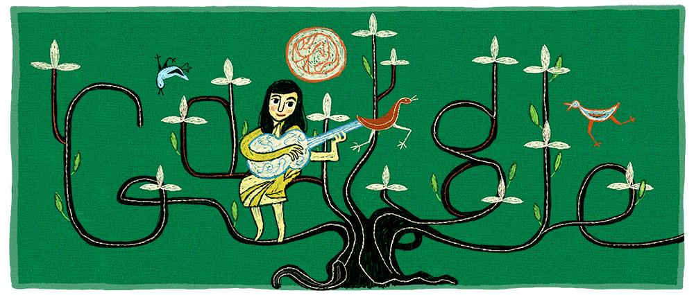 El doodle de Google para Violeta Parra