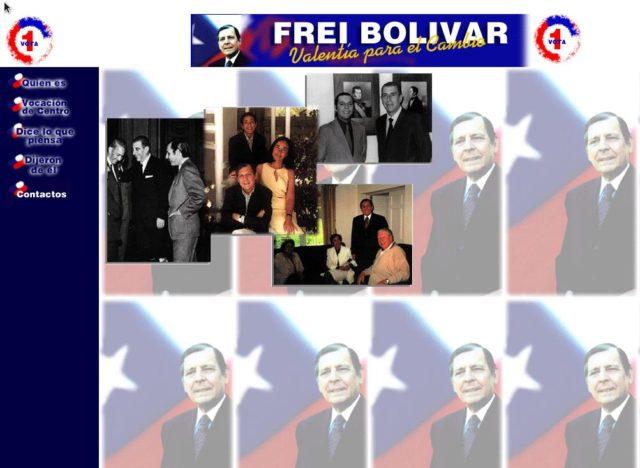 Captura de pantalla del sitio www.freibolivar.co.cl
