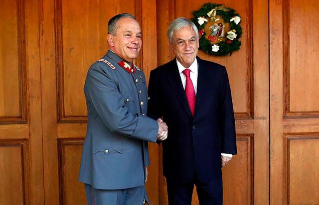 Piñera recibió al comandante en jefe del Ejército | Agencia UNO