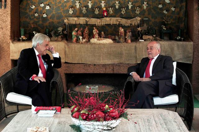 Sebastián Piñera recibió al presidente del Senado, Andrés Zaldívar | Agencia UNO