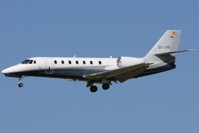 Cessna, modelo Citation 680 Sovereign (imagen de referencia).
