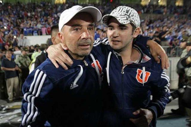 Jorge Sampaoli y su hijo