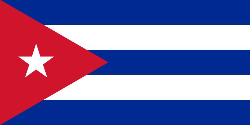 Bandera de Cuba (CC) Wikimedia Commons