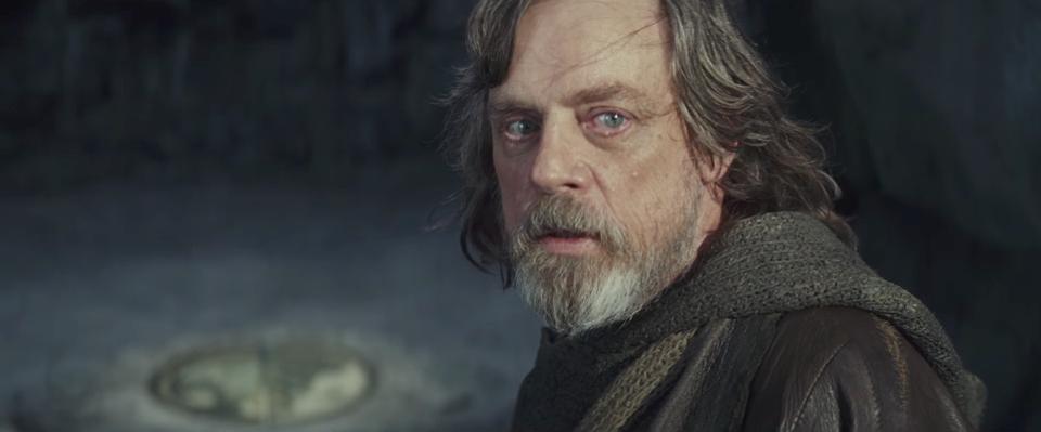 """Hamill como Luke en """"Star Wars: Episodio VIII - Los últimos jedi"""""""