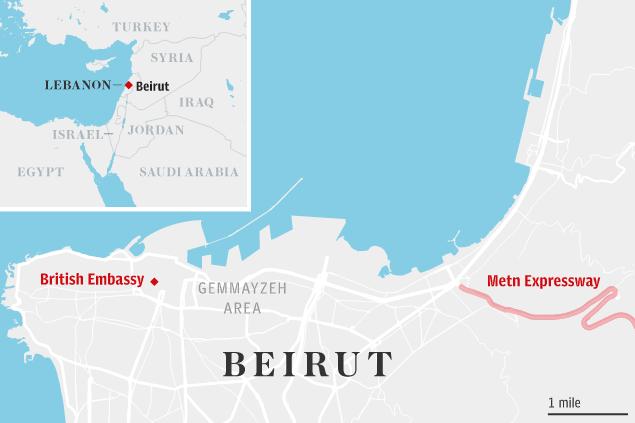 Mapa de la zona | The Telegraph