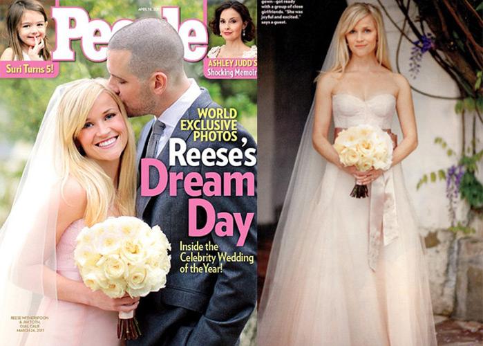 Reese Witherspoon en su boda en 2011 | www.people.com