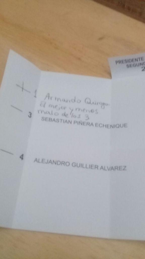 Voto para Armando Quiroga