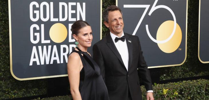 Seth Meyers y su esposa | Frederick M. Brown | Getty Images | AFP