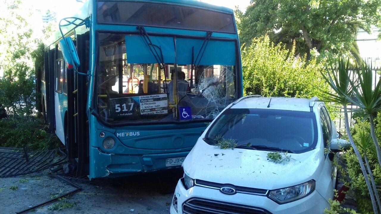 Accidente bus Transantiago