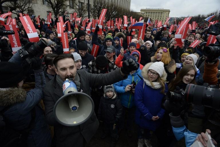 Protestas del domingo en Rusia | Agence France-Presse