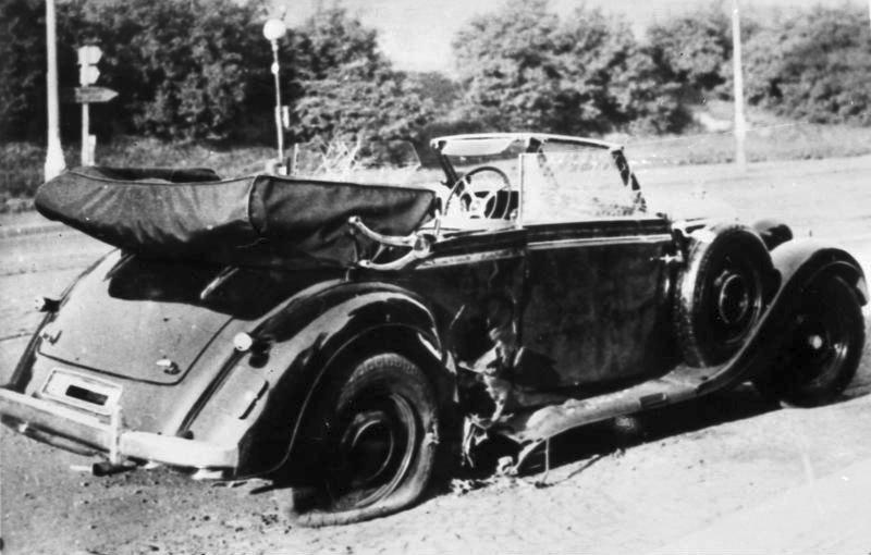 El Mercedes-Benz descapotable en el cual Heydrich fue atacado (CC) Wikimedia Commons
