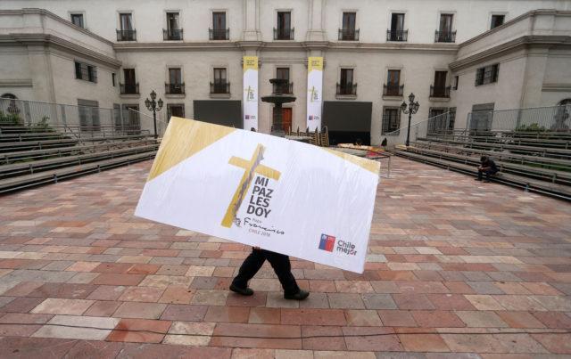 Preparations underway at La Moneda. Cristóbal Escobar | Agencia UNO