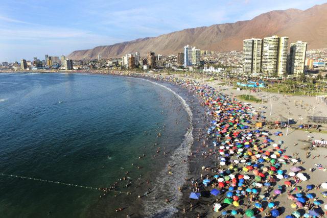 Aerial view of the coastal city of Iquique. Ignacio Muñoz | Agence France-Presse