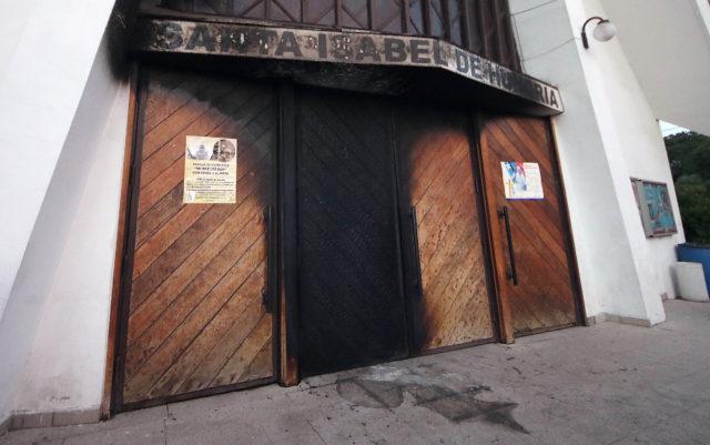 Santa Isabel de Hungría, one of the four churches attacked. Francisco Castillo | Agencia UNO
