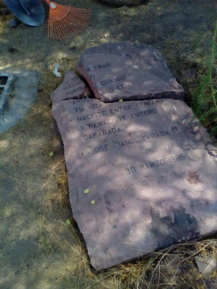 Memorial destruido en honor a víctimas del caso Degollados