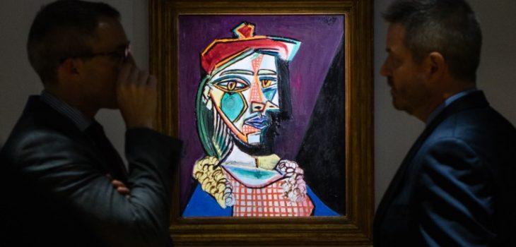 """Resultado de imagen de """"Femme au béret et à la robe quadrillée"""" de Picasso a subasta"""