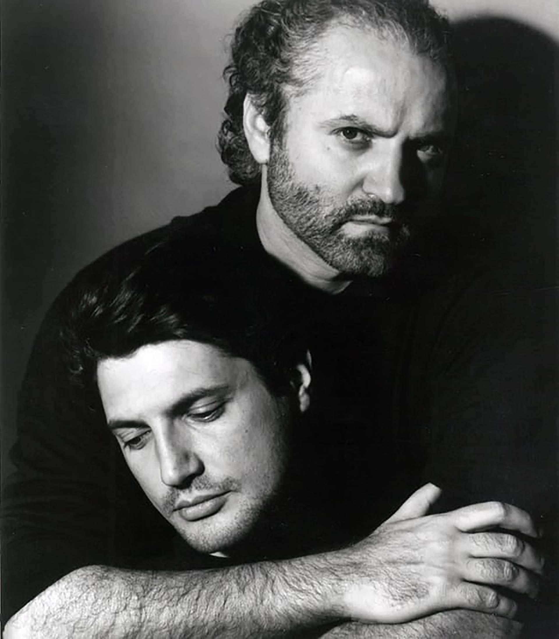 Antonio D'Amico con Gianni Versace