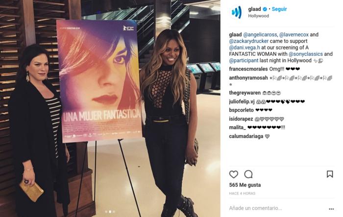 Daniela Vega posó junto a actriz de Orange is the New Black