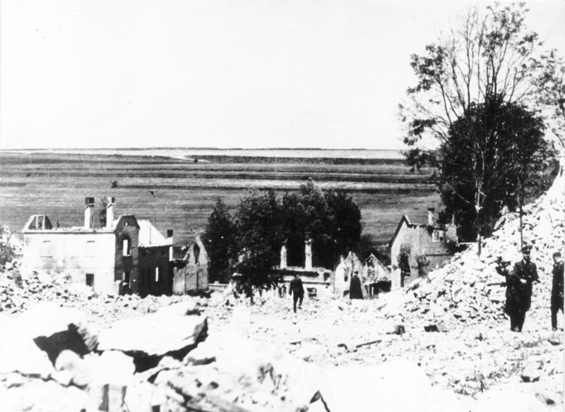 Lidice completamente destruída, en junio de 1942 (CC) Wikimedia Commons