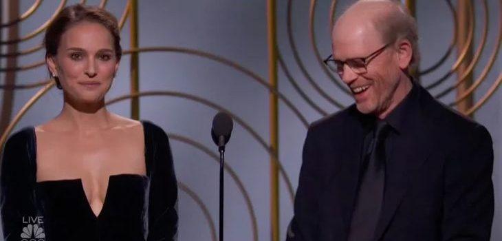 Natalie Portman y Ron Howard  | NBC | Golden Globes
