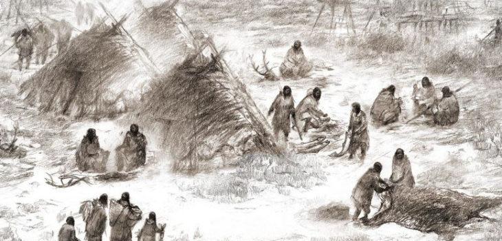Representación de los Antiguos Beringianos | Eric S. Carlson en colaboración con Ben Potter